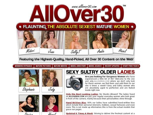 All Over 30 Original Log In