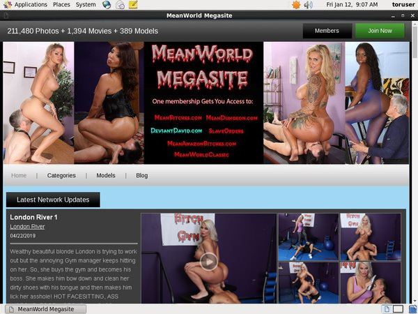Meanworld.com Working Accounts